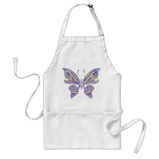 Colorful butterfly standard apron