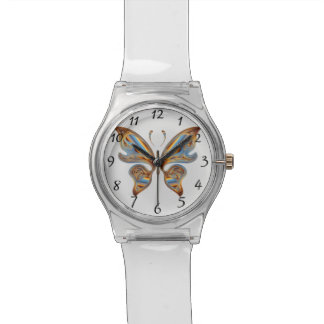 Colorful butterfly watch