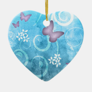 Colorful Butterfly Watercolor Painting Ornament