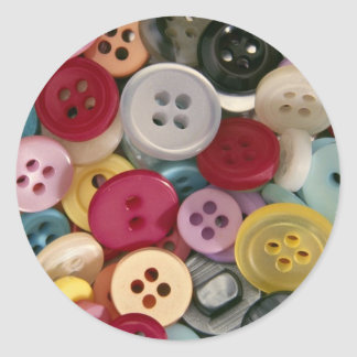 Colorful Buttons Classic Round Sticker