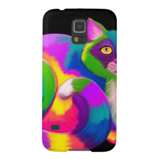 Colorful Calico Cat Cases For Galaxy S5