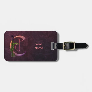 Colorful Calla Initial C Luggage Tag