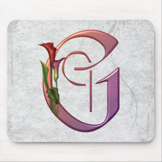Colorful Calla Initial G Mouse Pad
