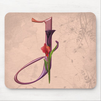 Colorful Calla Initial J Mouse Mat