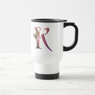 Colorful Calla Initial K Travel Mug