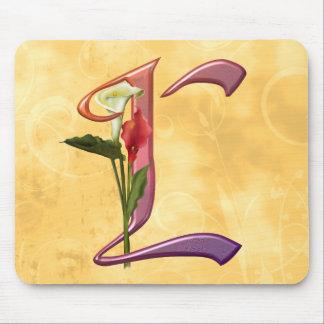 Colorful Calla Initial L Mouse Pad
