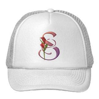 Colorful Calla Initial S Cap
