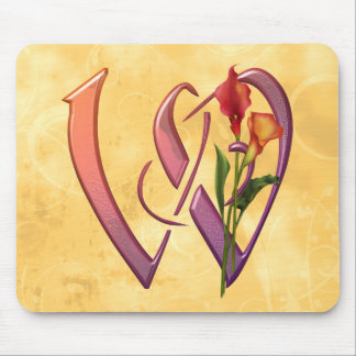 Colorful Calla Initial W Mouse Pad