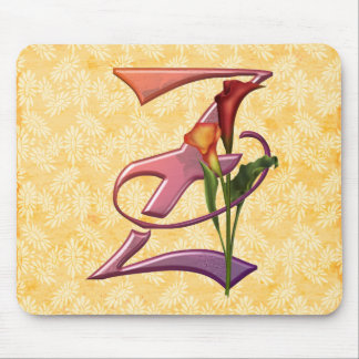 Colorful Calla Initial Z Mouse Pad