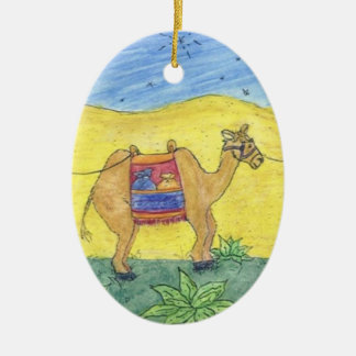 Colorful Camels Christmas Ornament