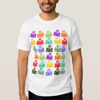 Colorful Cameras T Shirts
