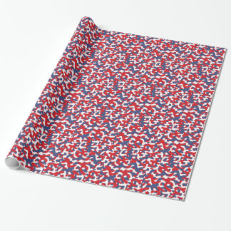 Colorful Camouflage Pattern Wrapping Paper