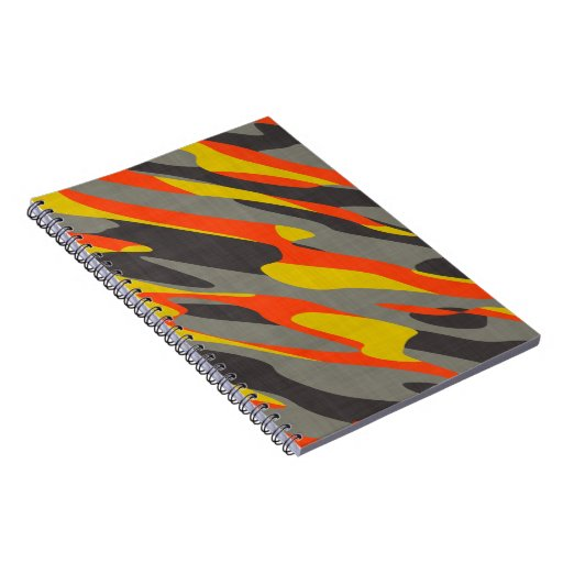 Colorful Camouflage Texture Notebooks
