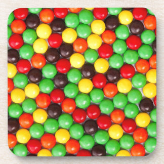 Colorful candies coasters