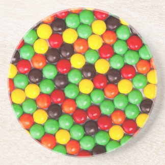Colorful candies drink coaster