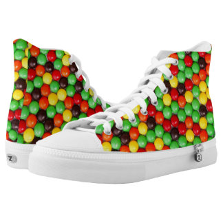 Colorful candies high tops