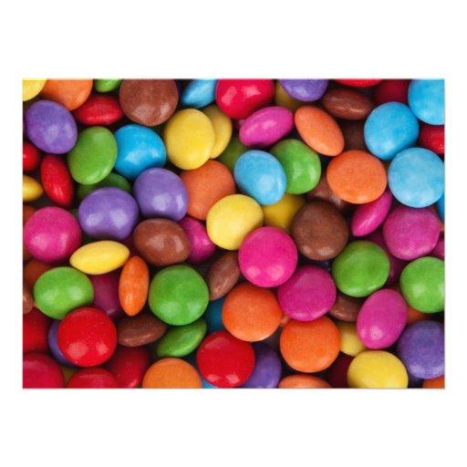 Colorful Candies Custom Invitation
