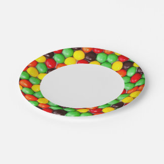 Colorful candies paper plate