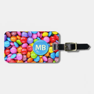 Colorful Candies Personalize Photo Luggage Tag