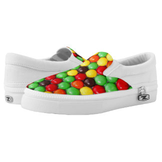 Colorful candies printed shoes