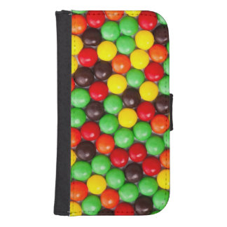 Colorful candies samsung s4 wallet case
