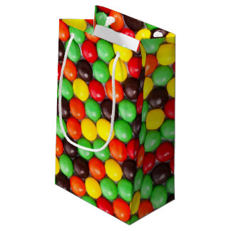 Colorful candies small gift bag