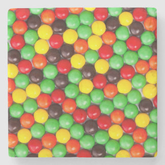 Colorful candies stone coaster
