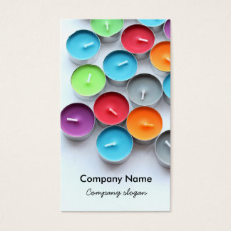Colorful candles business card