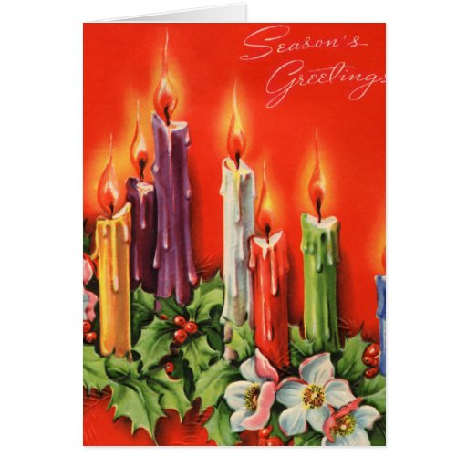Colorful CAndles Seasons Greetings Card