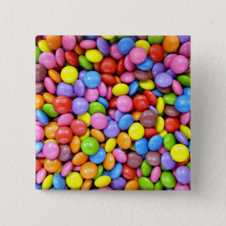 Colorful Candy 15 Cm Square Badge