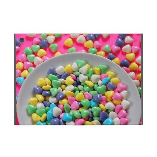 Colorful candy hearts ipad mini cover