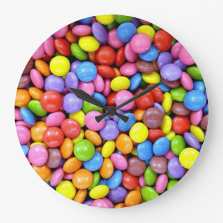 Colorful Candy Large Clock