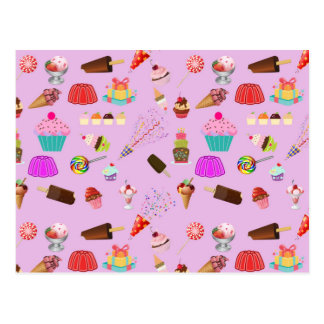 Colorful Candy Party Pattern Postcard
