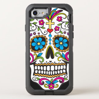 Colorful Candy Skull OtterBox Defender iPhone 7 Case