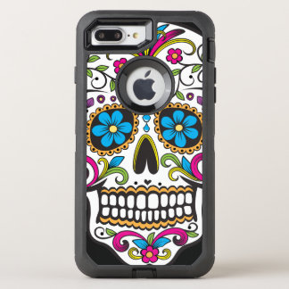 Colorful Candy Skull OtterBox Defender iPhone 8 Plus/7 Plus Case