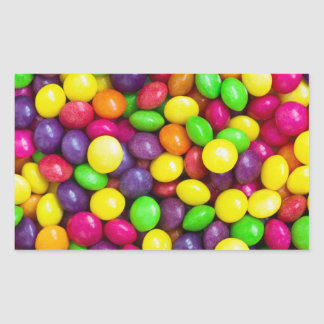Colorful candy's background rectangular sticker