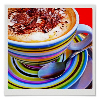 Colorful Cappuccino Print