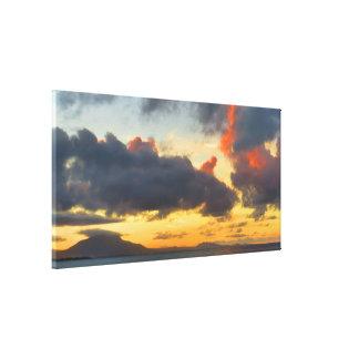 Colorful Caribbean Sunset Canvas Print