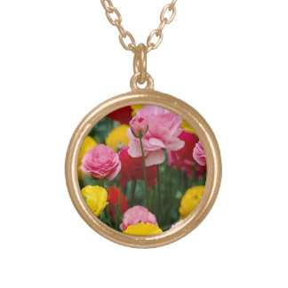 Colorful Carnation Flowers Necklace
