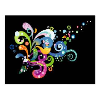Colorful Carnival Streamers Design Postcard