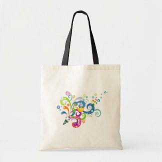 Colorful Carnival Streamers Tote Bag