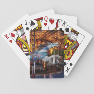 Colorful Carousel Horse and Merry Go Round Playing Cards