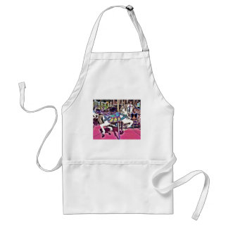 Colorful Carousel Horse at Carnival Photo Gifts Standard Apron