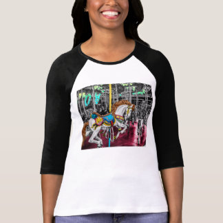 Colorful Carousel Horse at Carnival T-Shirt