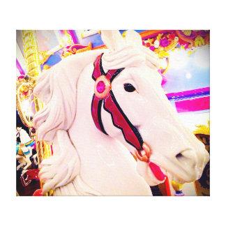 Colorful carousel horse photography art canvas canvas print