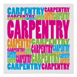 Colorful Carpentry Posters