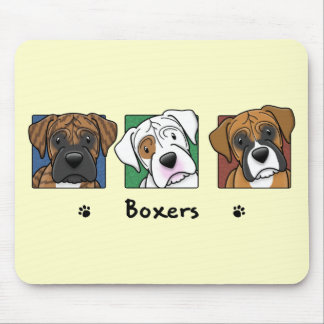 Colorful Cartoon Boxers Mouse Pads