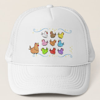 Colorful Cartoon Chicken Cap