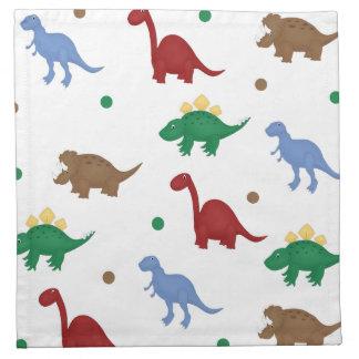 Colorful Cartoon Dinosaur Napkins