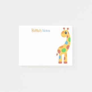 Colorful Cartoon Giraffe Post-it Notes